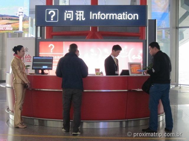 Aeroporto Internacional de Pequim (PEK) - guiche de informações