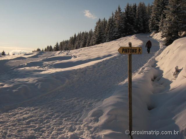 Trilha de inverno no Massif de Balme e Lac des Confins - La Clusaz