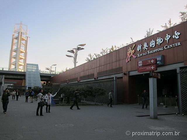 Arredores estádio olímpico pequim