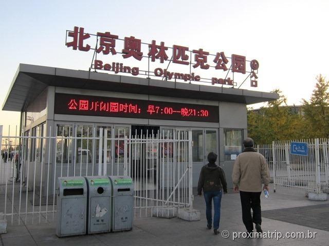 Entrada do Parque Olímpico de Pequim