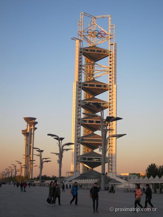 Símbolo das Olimpíadas (2008) - Parque Olímpico de Pequim