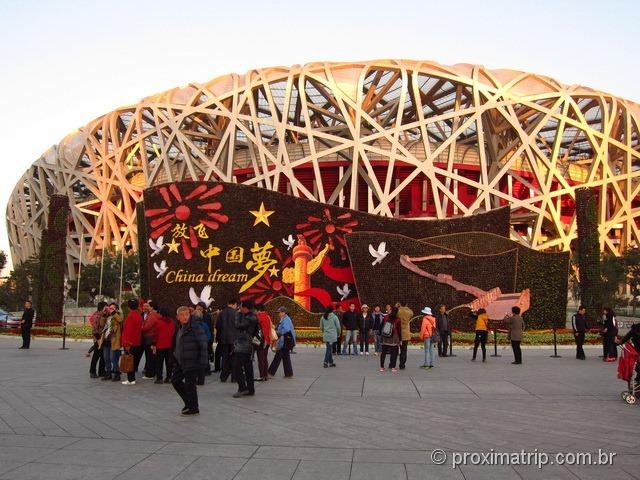 Passeio em Pequim: Estádio Olímpico Ninho de Pássaro (bird's nest)