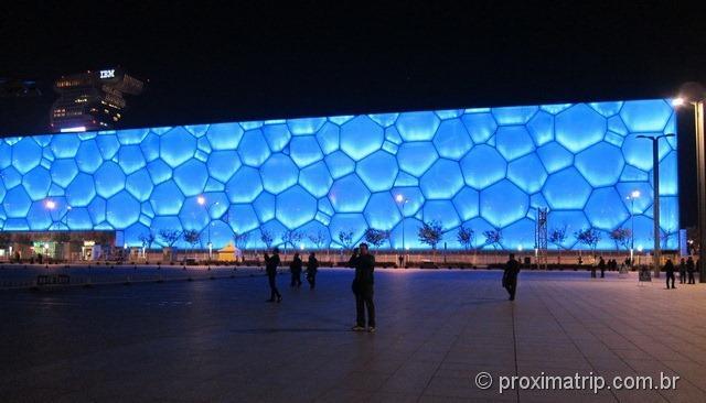 O Water Cube a noite - Pequim
