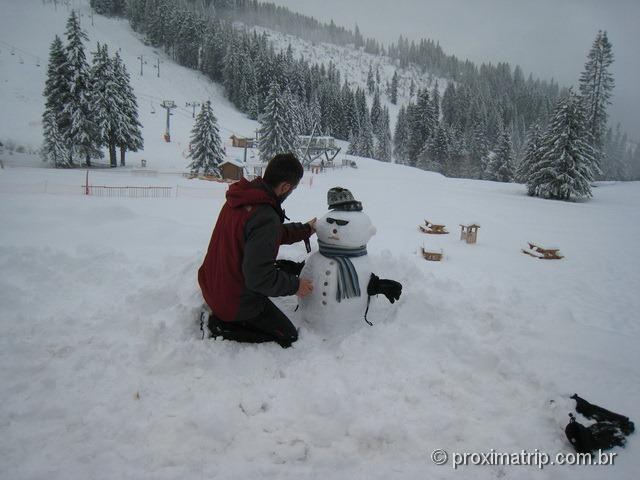 Nosso boneco de neve ! Massif de Manigod - La Clusaz