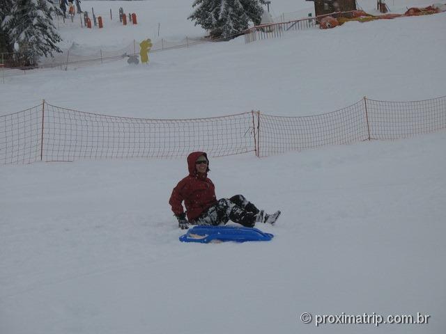Brincando de ski bunda (!) no Massif de Manigod - La Clusaz