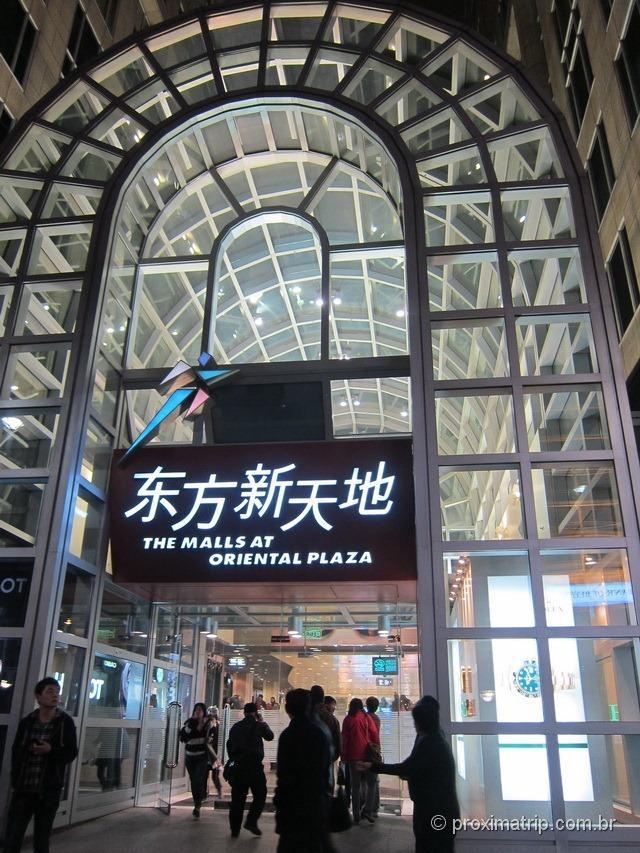 The Malls at Oriental Plaza Shopping integrado metrô Rua Wangfujing Pequim