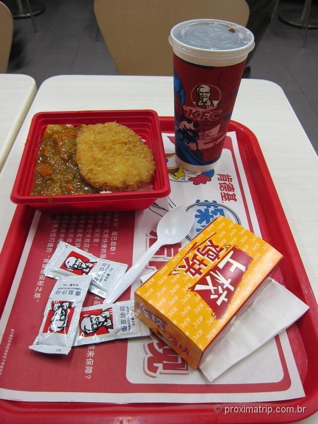 KFC em Pequim - rua Wangfujing