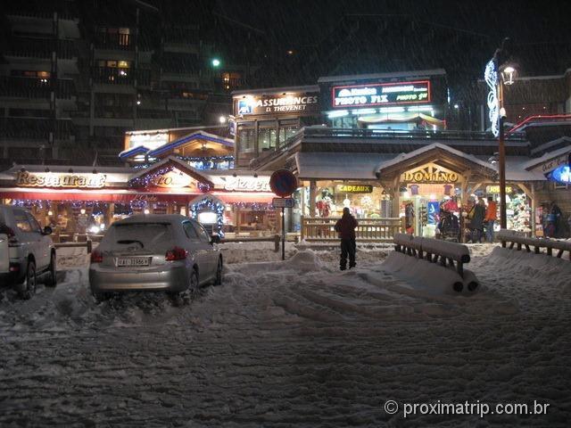 La Clusaz - muita neve nas ruas