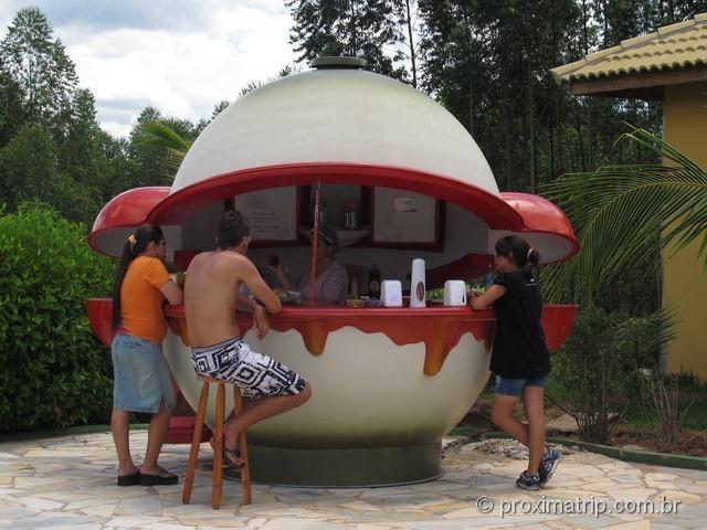 Hot dog no Parque aquático Thermas Water Park - Águas de São Pedro