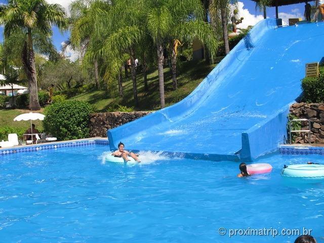 """toboágua tipo """"escorregador"""" - Parque aquático Thermas Water Park - Águas de São Pedro"""