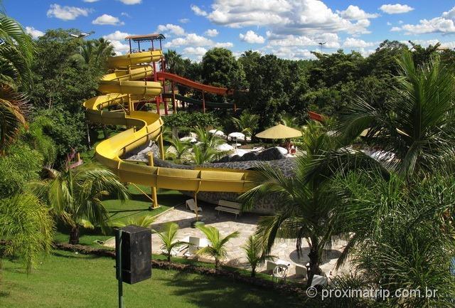 Toboágua por dentro da baleia! - Parque aquático Thermas Water Park - Águas de São Pedro