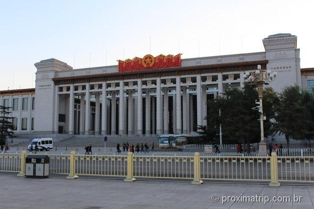 Museu Nacional da China, ao lado da Praça da Paz Celestial