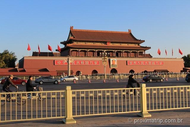 Tian'an Men com a foto do Mao Tsé Tung - Praça da paz Celestial - Pequim