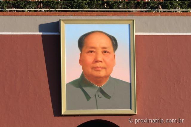 Foto do Mao Tsé Tung - Praça da paz Celestial - Pequim