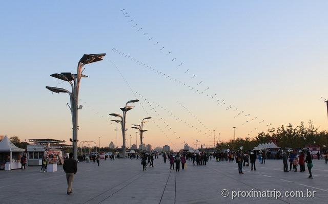 Pipas Chinesas a serpentear pelos céus de Pequim
