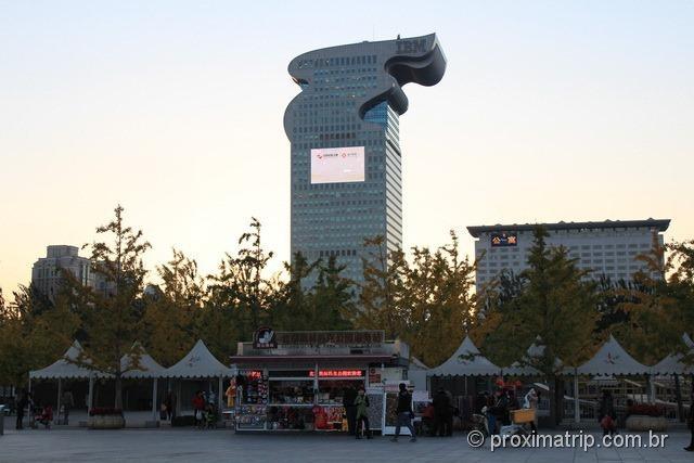 O moderno prédio da IBM em Pequim