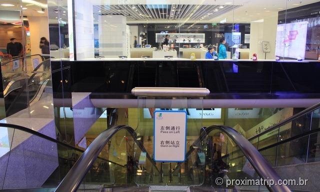 Shoppings centers integrados ao metrô - Rua Wangfujing em Pequim