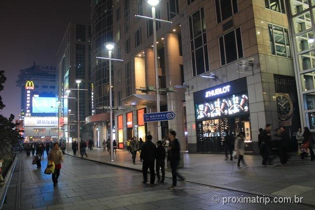 Rua Wangfujing em Pequim