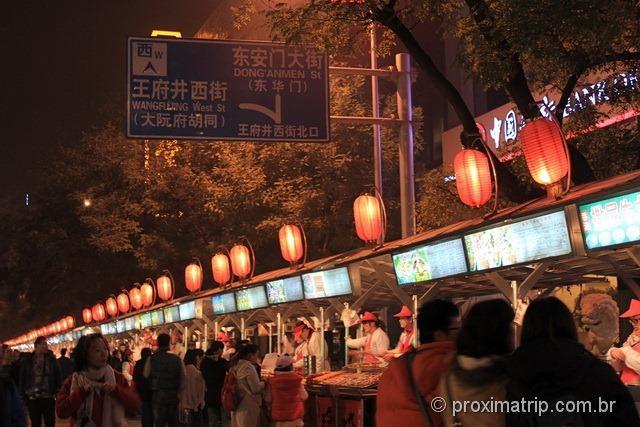 Pequim insetos Rua Wangfujing