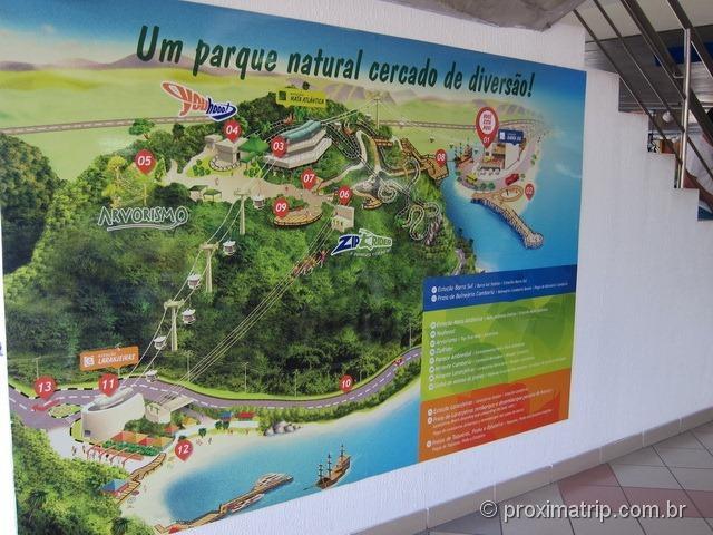Mapa Parque Unipraias - Balneário Camboriu