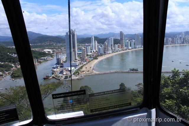 Vista de Balneário Camboriú a partir do Teleférico Parque Unipraias