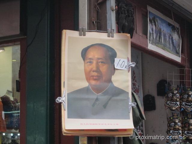 Retratos do Mao Tse Tung a venda por toda a Parte - Pequim - China
