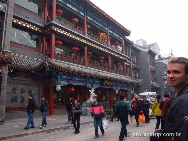 Rua Dashilan em Pequim