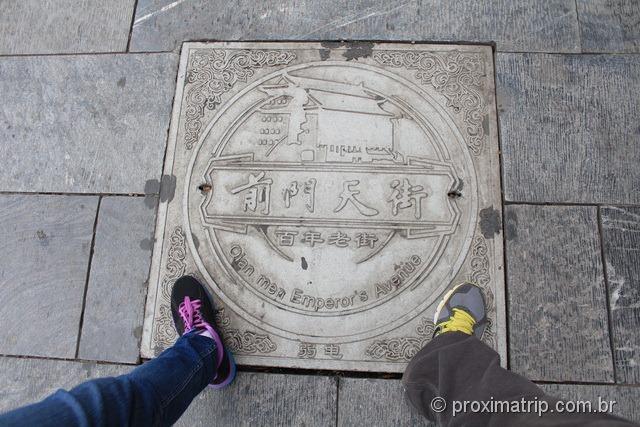 Rua Qian Men - A avenida do Imperador - Pequim