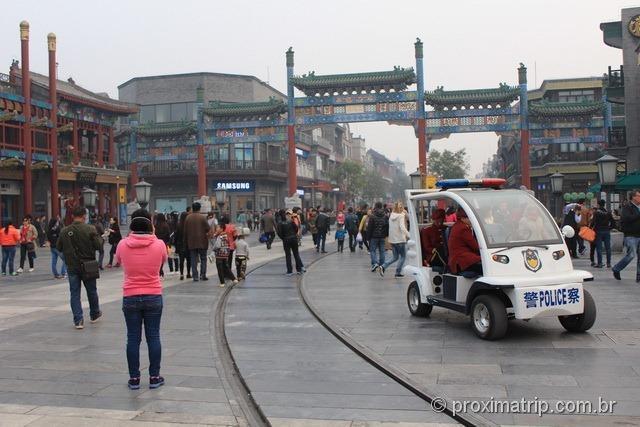 A rua Qian Men em Pequim - China