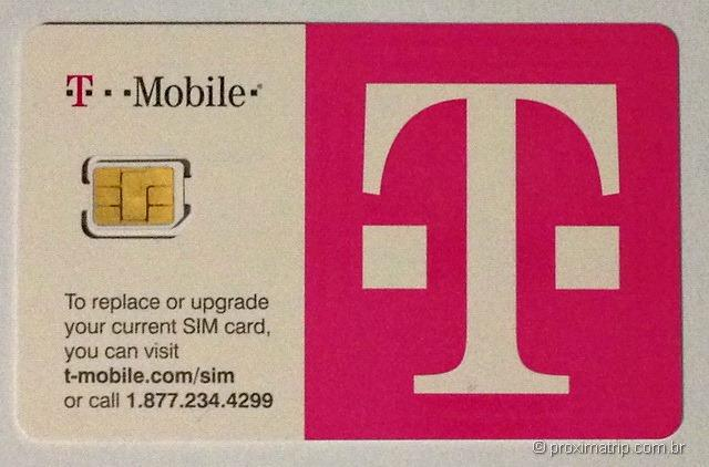 Chip de Celular da operadora americana T-Mobile para uso nos EUA