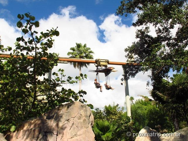 Pteranodon flyers no Camp Jurassic - Islands of Adventure