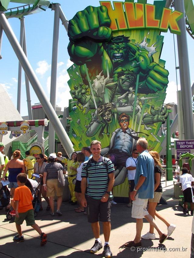 entrada da Montanha russa do Hulk - Islands of Adventure