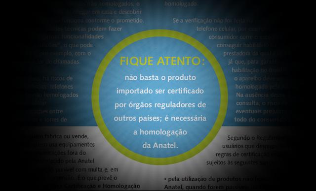 Trecho da cartilha da Anatel sobre o uso de aparelhos não homologados