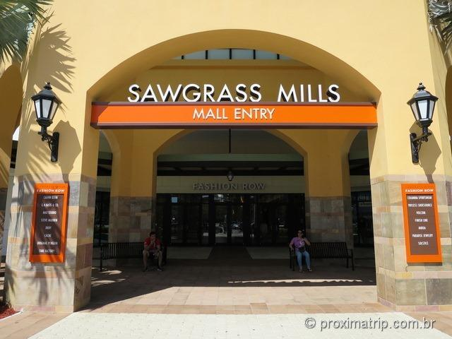 Entrada do Outlet Sawgrass Mills
