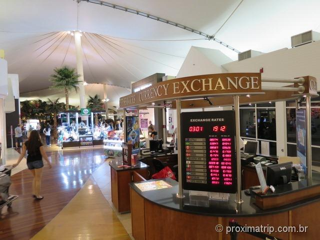 Quiosque de cambio para troca de moedas - Sawgrass Mills