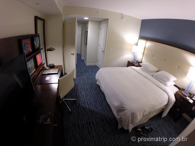 Review do quarto enorme do Hotel Hilton Fort Lauderdale