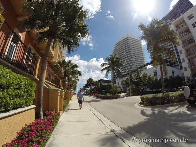 A rua do hotel Hilton Fort Lauderdale