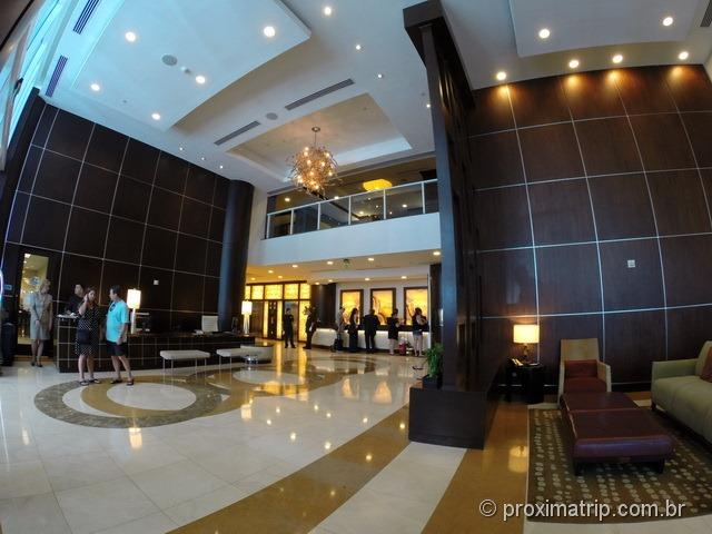 Lobby do Hotel Hilton Fort Lauderdale - Review completo