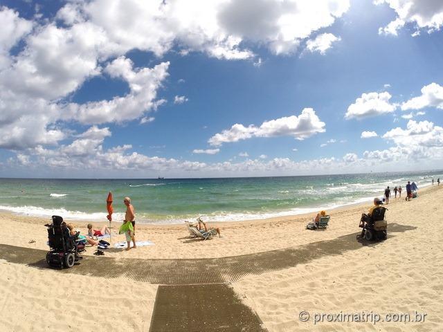 Praia com acesso para cadeirantes - Fort Lauderdale