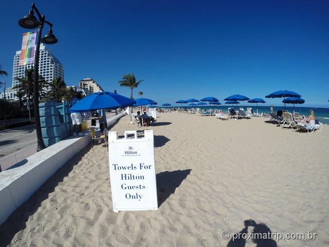 Toalhas para praia - Hotel Hilton Fort Lauderdale