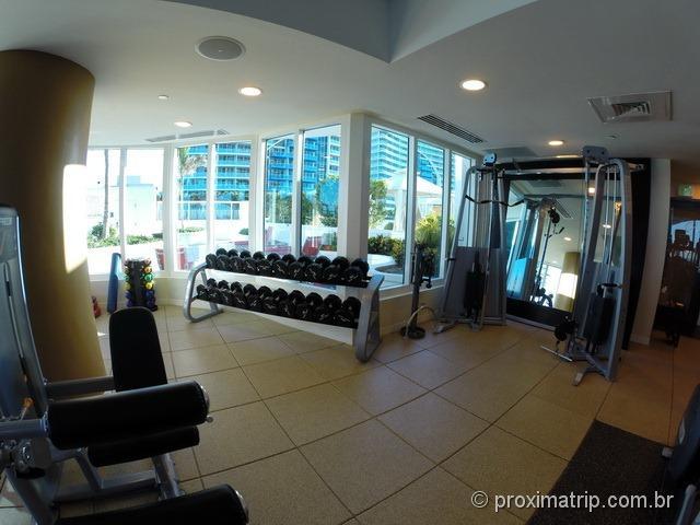 Sala de ginástica - Hotel Hilton Fort Lauderdale