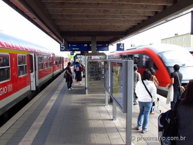 Trem Munique-Füssen, que leva ao ao Castelo de Neuschwanstein