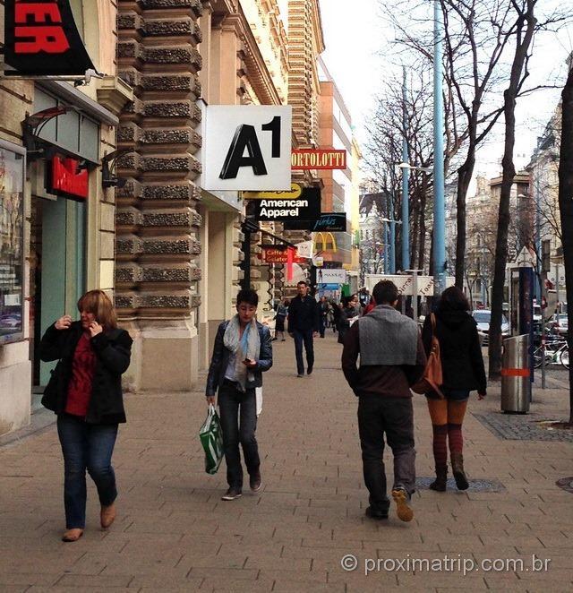 Loja de telefonia celular da A1 em Viena, na Mariahilfer strasse