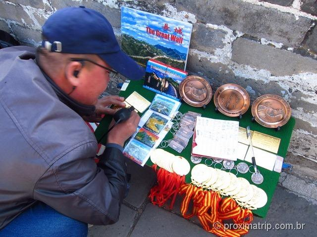 Souvenirs a venda na Muralha da China - trecho Badaling