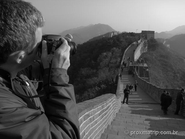 Fotografando a Muralha da China - trecho Badaling