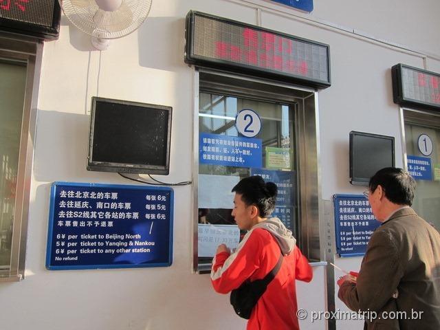 Bilheteria da estação de trem em Badaling - Muralha da China