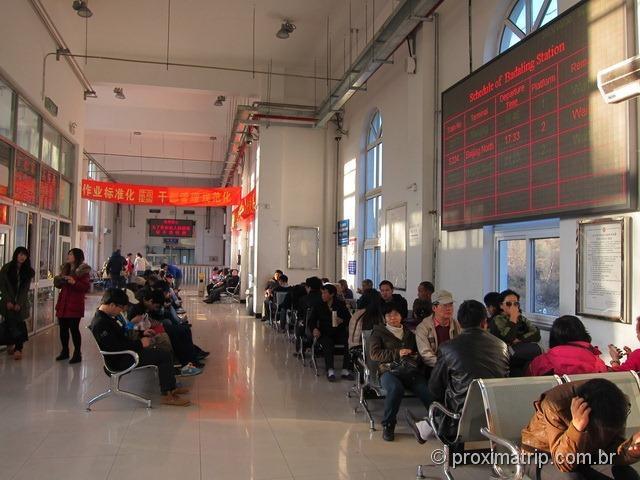 Muralha da China - A estação de trem de Badaling