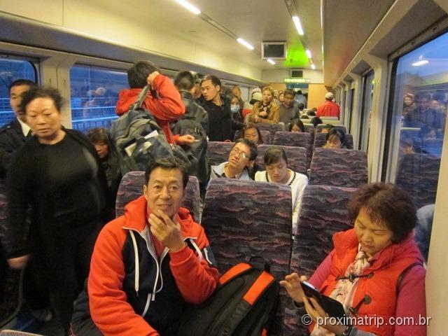 trem muralha da china S2 Badaling Pequim confortável novo