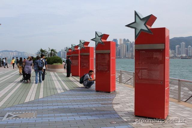 Avenida das Estrelas em Hong Kong
