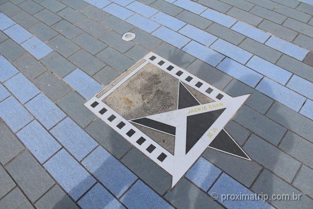 Estrela do Jackie Chan na Avenida das Estrelas - Hong Kong